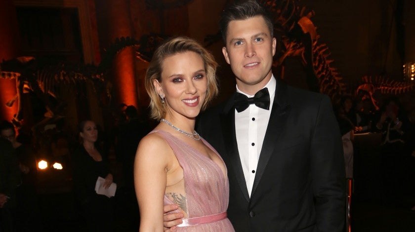 Scarlett Johansson and Colin Jost at the American Museum Of Natural History's 2018 Museum Gala