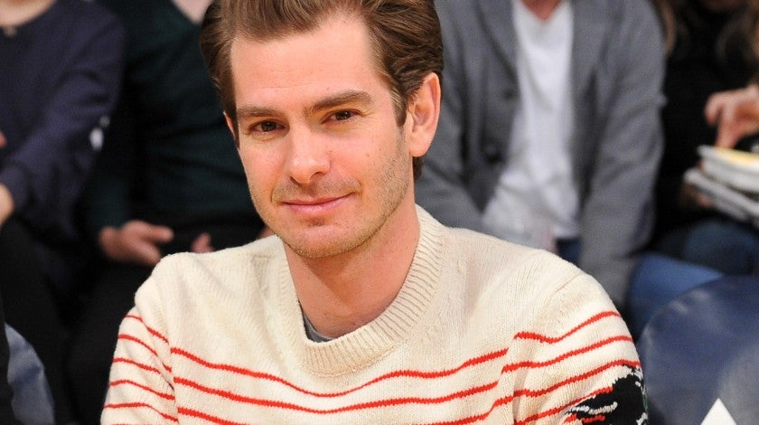 Andrew Garfield at Lakers game