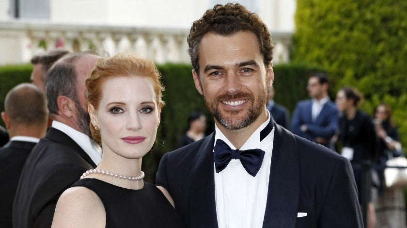Jessica Chastain and Gian Luca Passi at Cannes