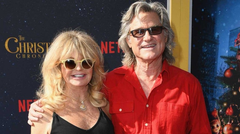 Goldie Hawn and Kurt Russell at the premiere of 'The Christmas Chronicles' in Los Angeles on Nov. 18.