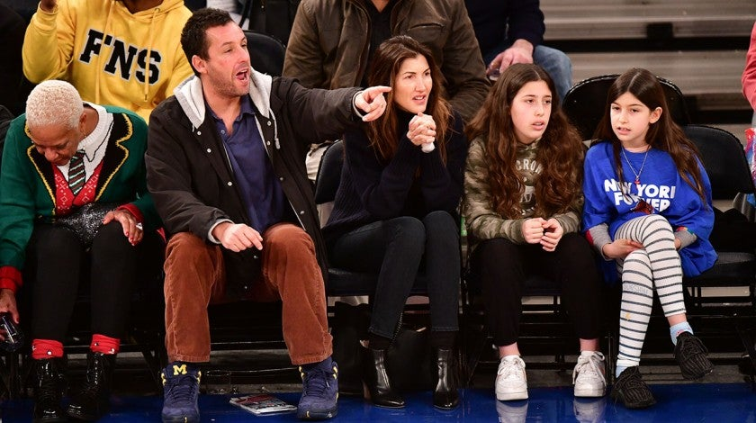 adam sandler family knicks game