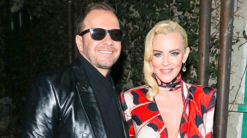 Donnie Wahlberg and Jenny McCarthy in LA after the masked singer premiere