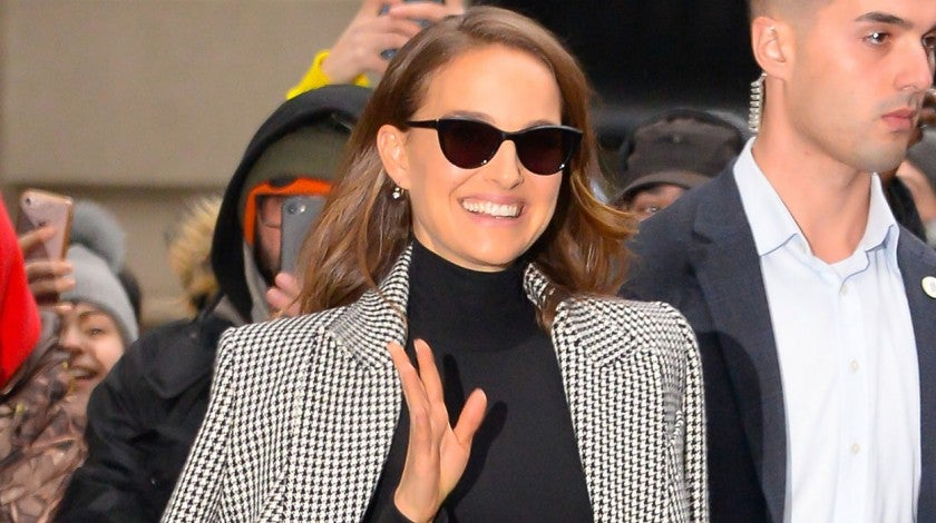 Natalie Portman leaving AOL Live in NYC