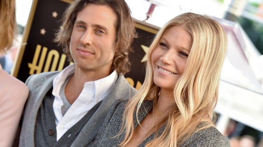 Brad Falchuk and Gwyneth Paltrow at Ryan Murphy's Hollywood Walk of Fame ceremony