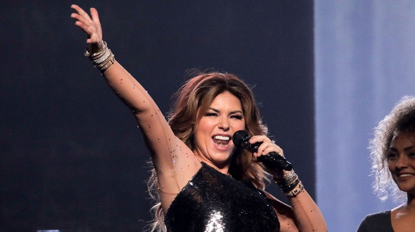 Shania Twain performing in new zealand