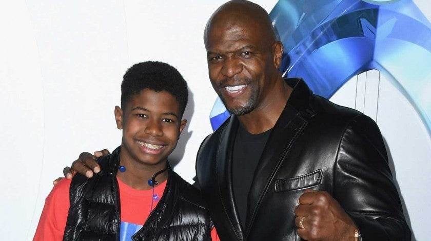 Terry Crews and son Isaiah at the premiere of 'Aquaman' at the Chinese Theatre in Hollywood on Dec. 12.