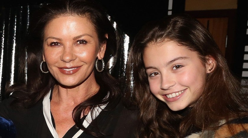 Catherine Zeta-Jones and daughter visit broadway