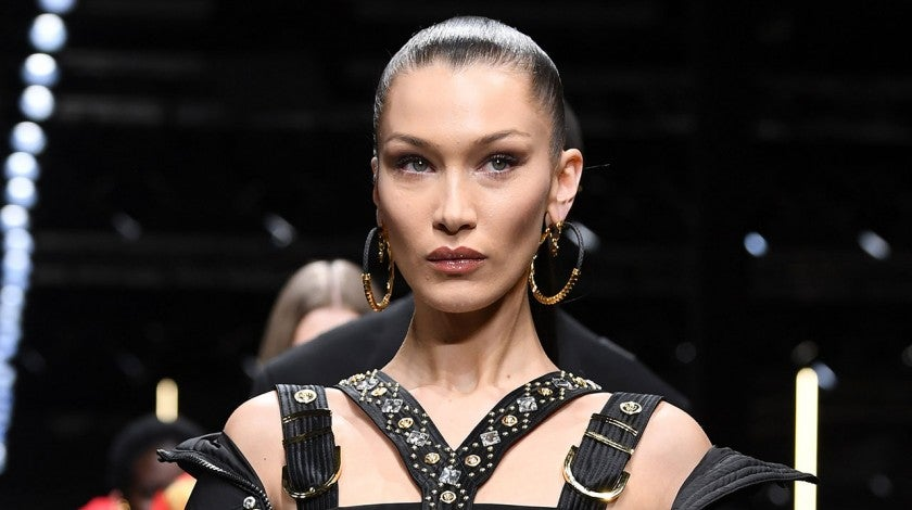 Bella Hadid on Versace runway