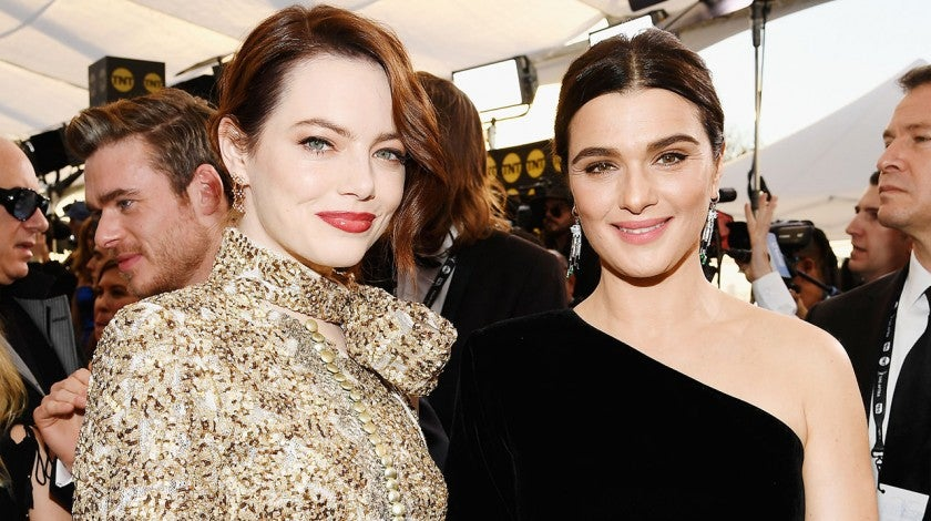Emma Stone and Rachel Weisz at the 25th Annual Screen Actors Guild Awards