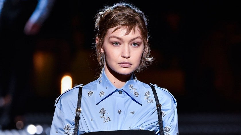 Gigi Hadid at Milan Fashion Week