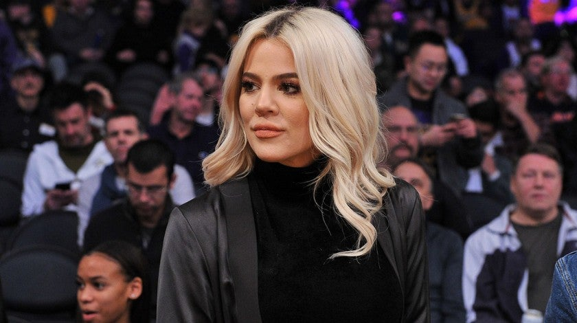 Khloe Kardashian at lakers game