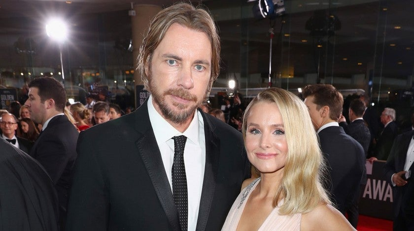 Dax Shepard and Kristen Bell at 2019 golden globes