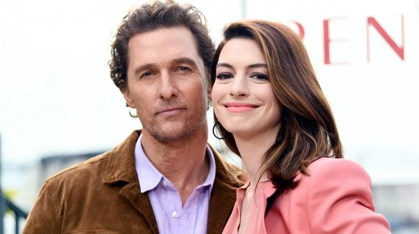 Matthew McConaughey and Anne Hathaway in Marina del Rey