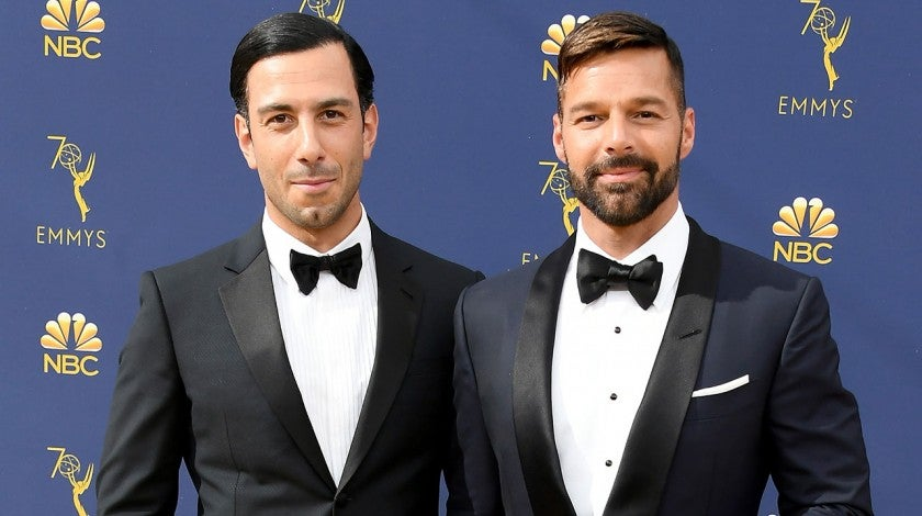 Ricky Martin and husband at 2018 emmys