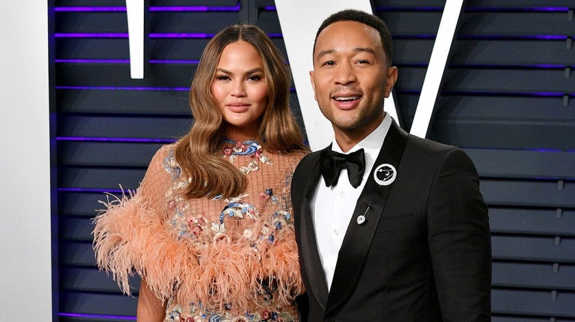 Chrissy Teigen and John Legend at the 2019 Vanity Fair Oscar Party