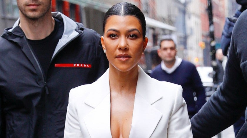 Kourtney Kardashian in nyc - white suit