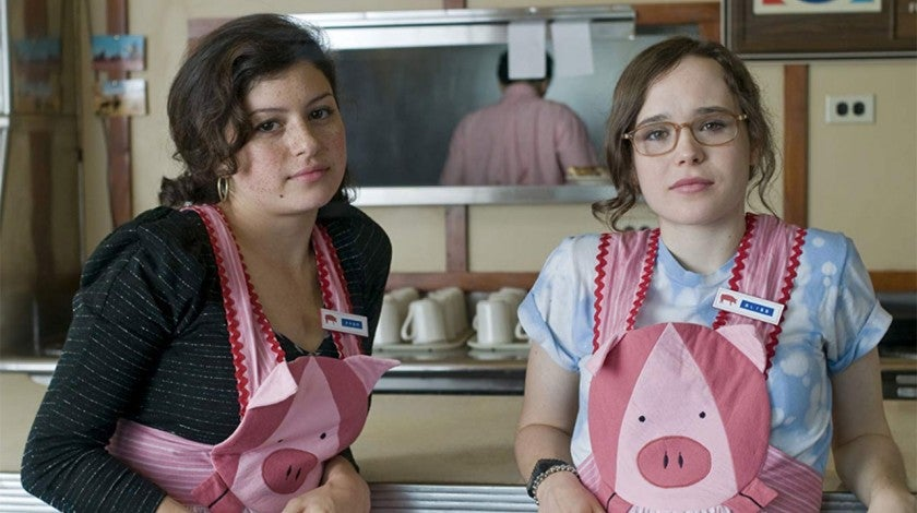 Alia Shawkat and Ellen Page in Whip It
