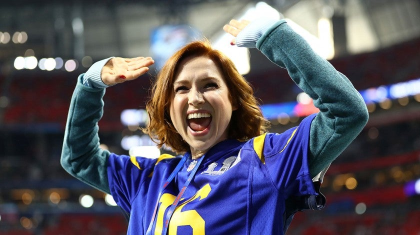 Ellie Kemper at super bowl 2019