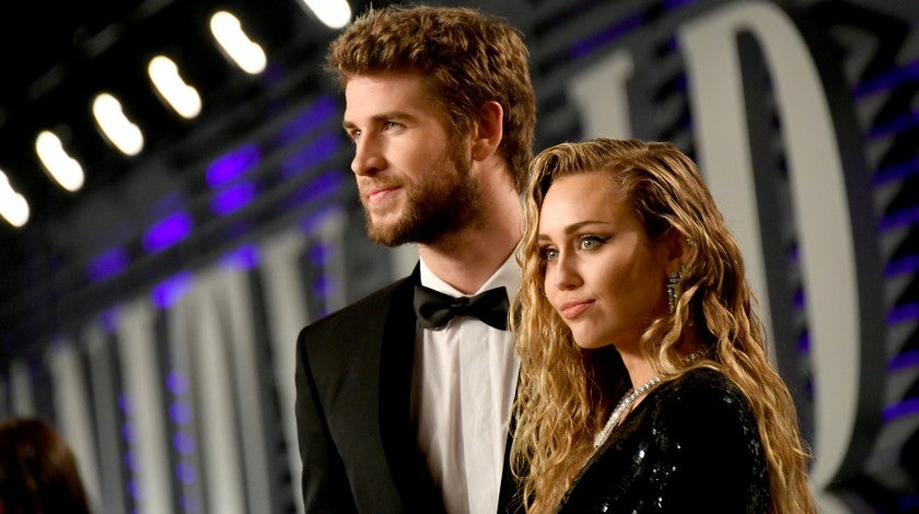 Liam Hemsworth and Miley Cyrus at VF party