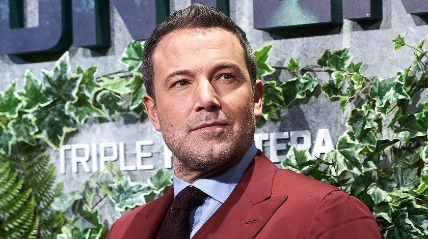Ben Affleck at triple frontier premiere in spain