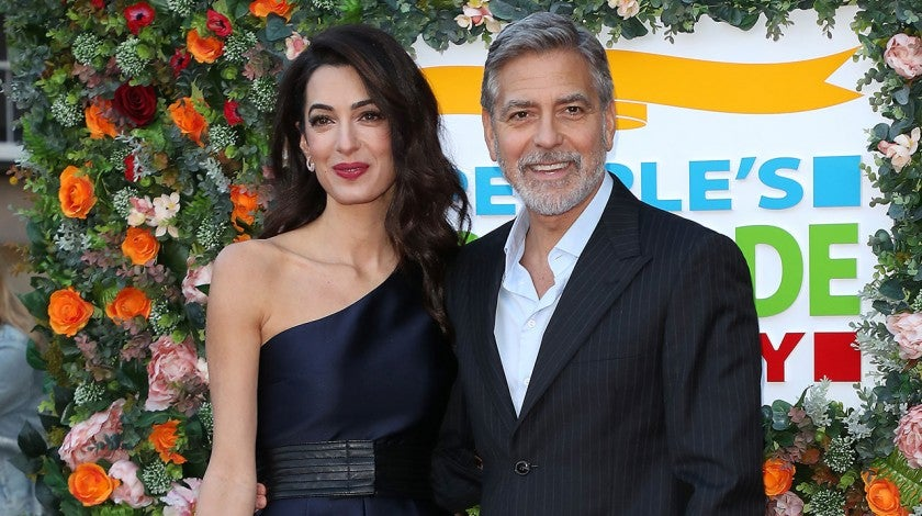 George Clooney and Amal Clooney at the People's Postcode Lottery Charity Gala