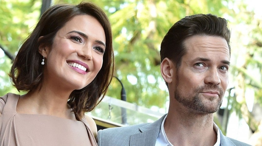 Mandy Moore and Shane West at hollywood walk of fame