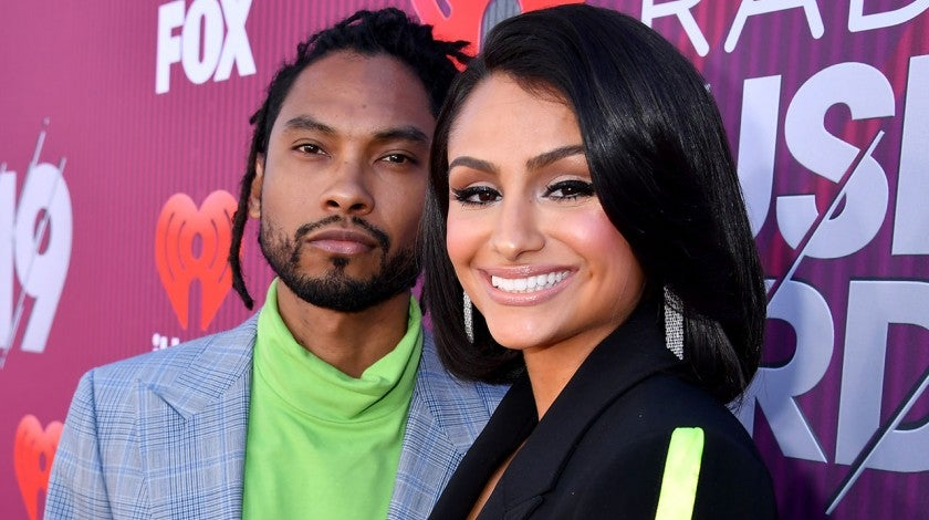 Miguel and Nazanin Mandi at the 2019 iHeartRadio Music Awards