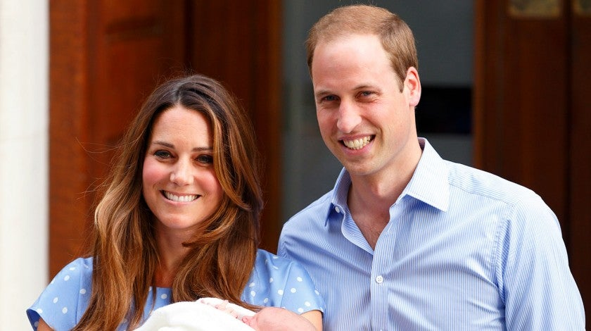 Kate Middleton and Prince William leave The Lindo Wing with their newborn son