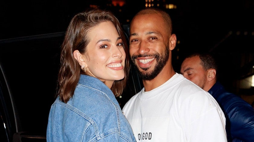 Ashley Graham and husband at gigi hadid's 24th birthday party