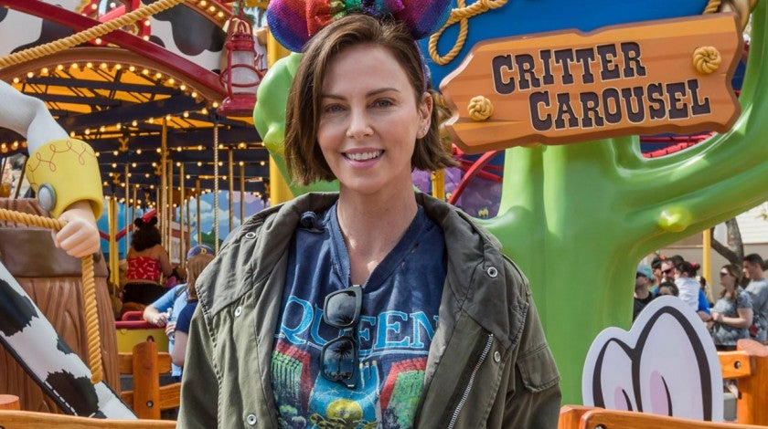 Charlize Theron at disneyland