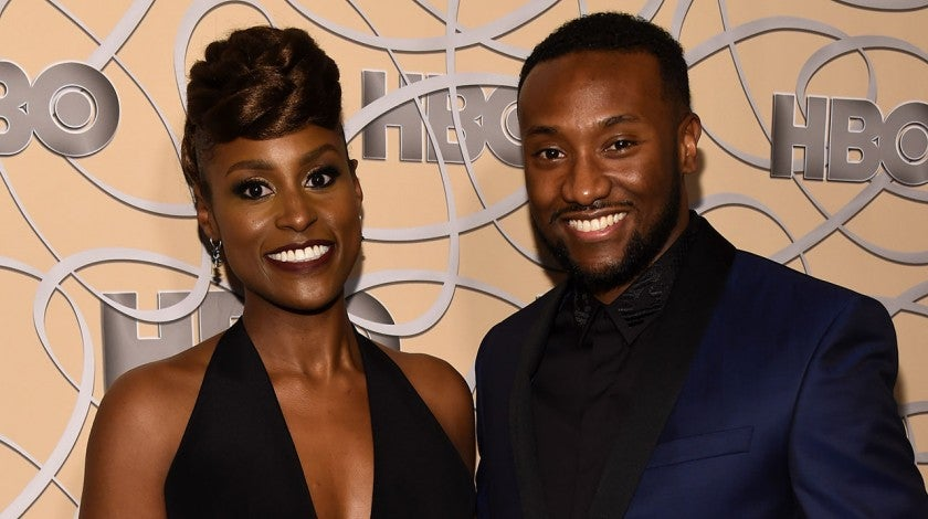 Issa rae and boyfriend in 2017