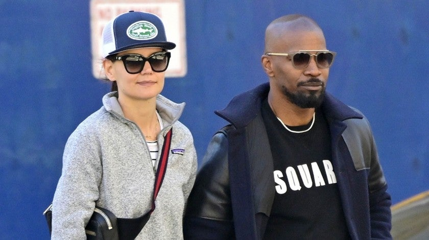 Katie Holmes and Jamie Foxx on April 16