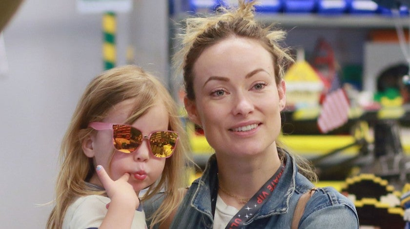Olivia Wilde and daughter at legoland