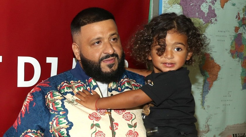 DJ Khaled and son Asahd at save the music event