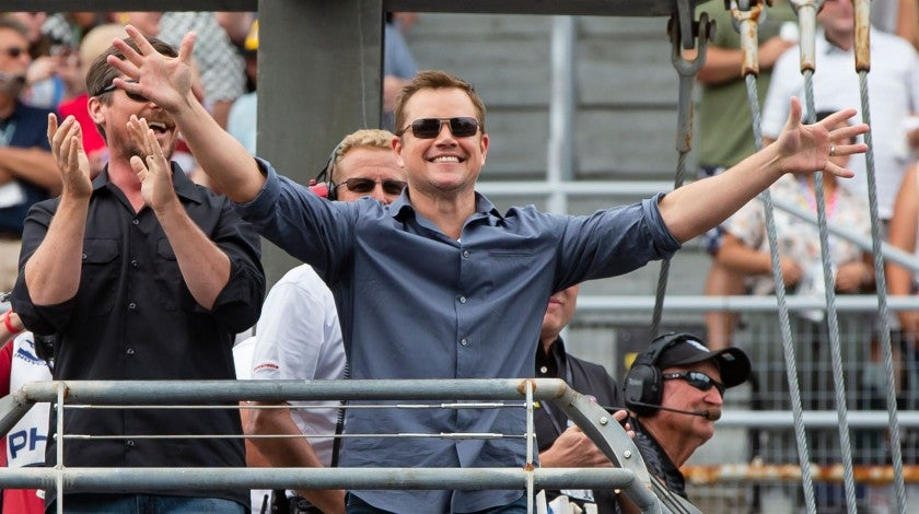 Matt Damon at indy 500