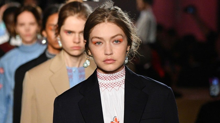Gigi Hadid walks in prada resort 2020 show