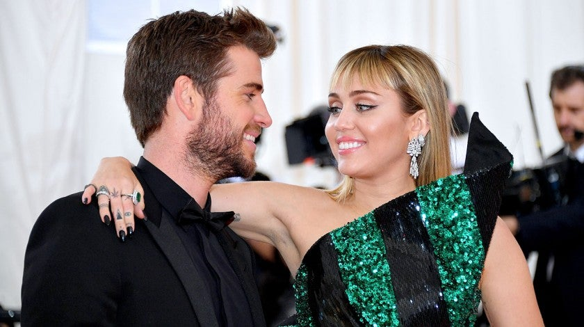 Liam Hemsworth and Miley Cyrus AT The 2019 Met Gala