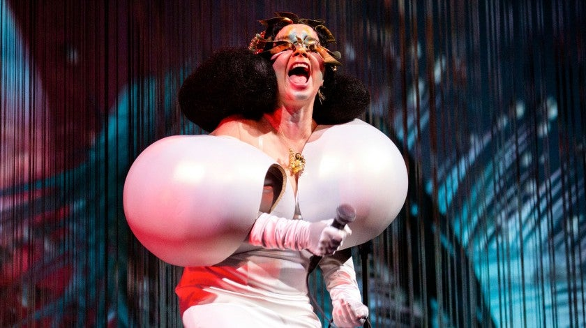 "Bjork performs onstage during her ""Cornucopia"" concert series at The Shed on May 22"