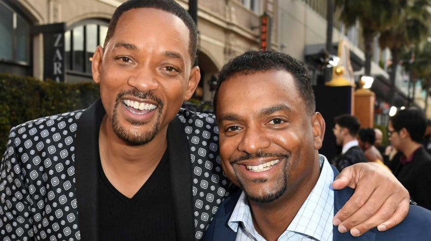 Will Smith and Alfonso Ribeiro at the Hollywood premiere of 'Aladdin' on May 21