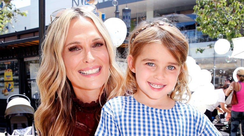 Molly Sims and daughter Scarlett on june 9
