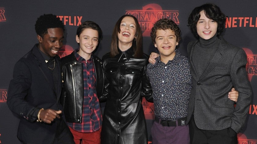 Stranger Things cast s2 premiere