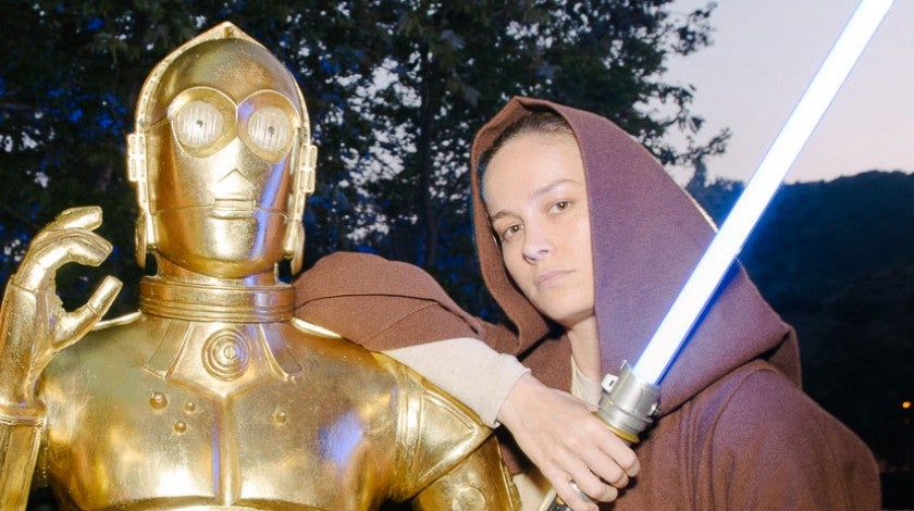 Brie Larson at star wars at cinsepia