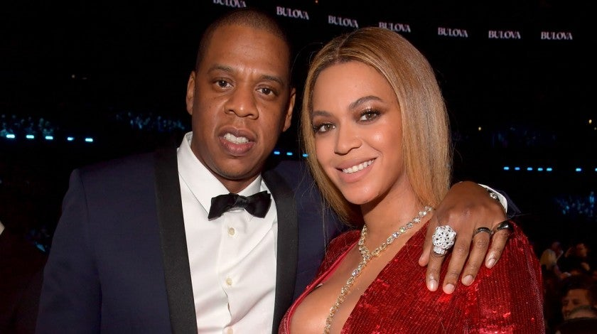 JAY-Z and Beyonce at 59th GRAMMY Awards in 2017