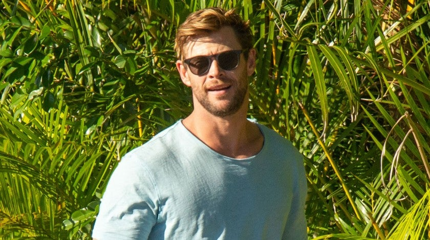 Chris Hemsworth in byron bay