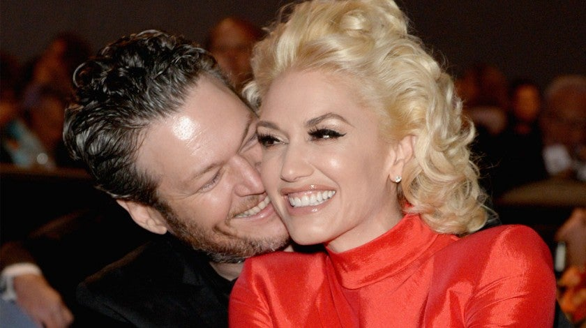 Blake Shelton and Gwen Stefani at the 2016 Pre-GRAMMY Gala