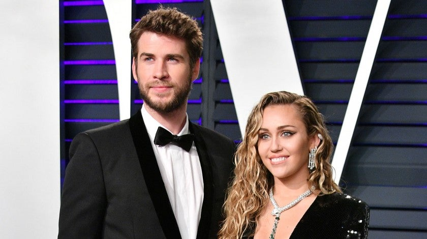 Liam Hemsworth and Miley Cyrus at the 2019 Vanity Fair Oscar Party