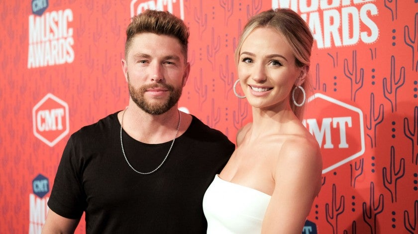 Lauren Bushnell and Chris Lane at the the 2019 CMT Music Awards