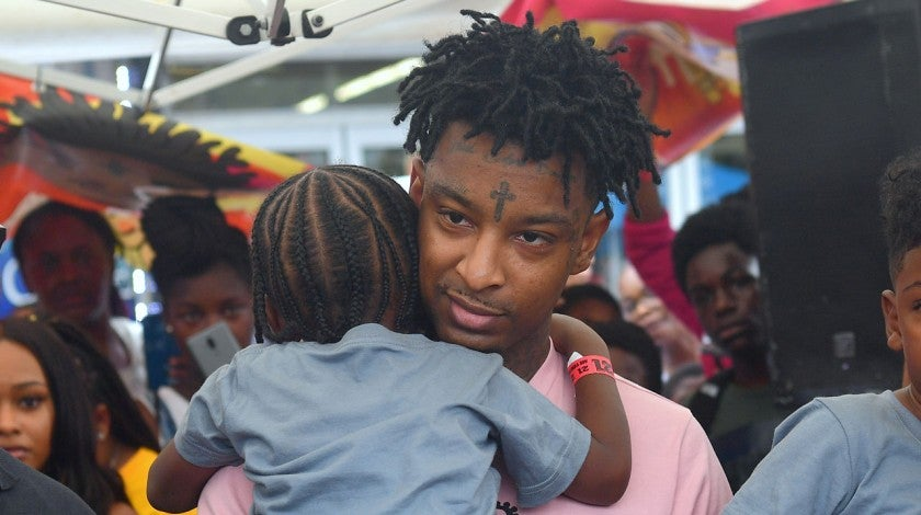 21 savage at nonprofit event in atlanta