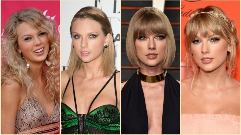 taylor swift hair split