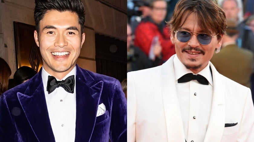 henry golding and johnny depp - split